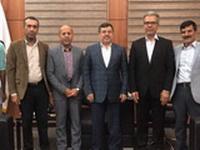 دیدار رئیس فدراسیون اسکیت ومدیرکل ورزش وجوانان استان با استاندار هرمزگان