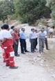 عزیزاله کناری فرماندار بندرعباس از دو محل حادثه خیز در رودخانه سیخوران بازدید بعمل آورد