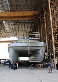 گزارش تصویری : بازدید خبرنگاران از روند ساخت بزرگترین کشتی تفریحی ایرانی در بندرعباس