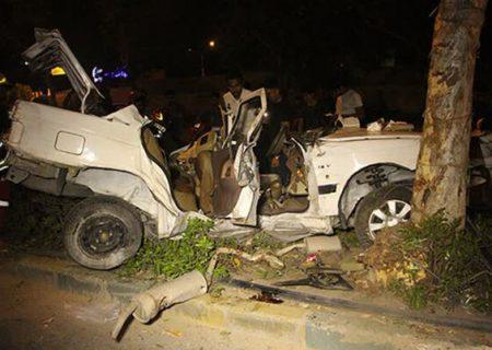 برخورد خودرو با درخت در بندرعباس دو کشته و یک مصدوم بر جای گذاشت