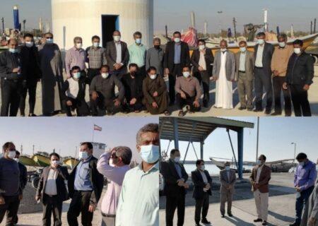 بازدید مدیرکل شیلات هرمزگان از ظرفیت های صید و صیادی غرب استان