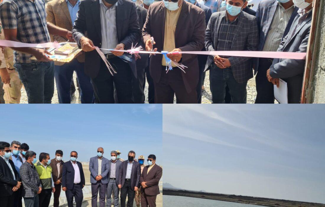 افتتاح مزرعه ۶۰ هکتاری پرورش میگو شرکت آبزیان ساحل در شهرستان جاسک