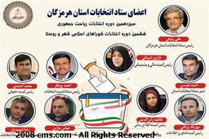 رئیس، دبیر، اعضا و مسئولان کمیته های ستاد انتخابات استان هرمزگان منصوب شدند